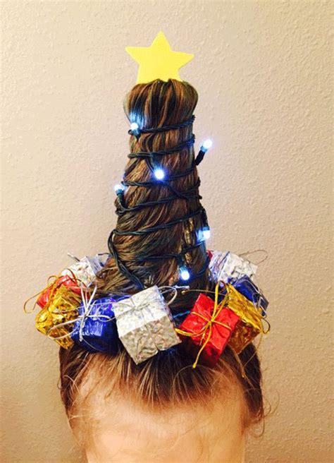 christmas tree girls hair do 15 simple themed hairstyle ideas for hair 2017 modern fashion