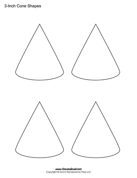 cone template free cone templates free printable cone shape pdfs