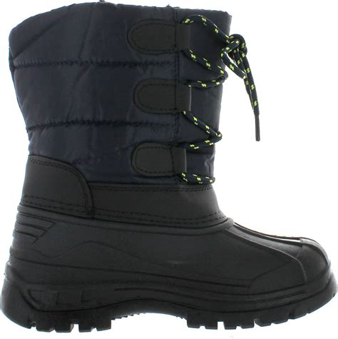winter boots for boys snow tec boys winter waterproof cold weather blizz4