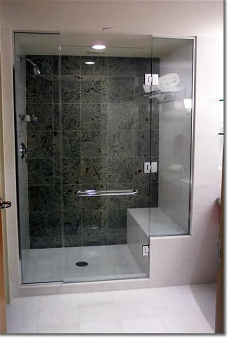 Showers With Seats And Glass Doors Custom Shower With Bench Seat Shower Light Custom Glass