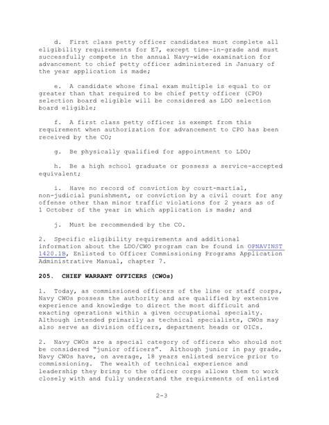 Letter J Award Ldo Cwo Handbook