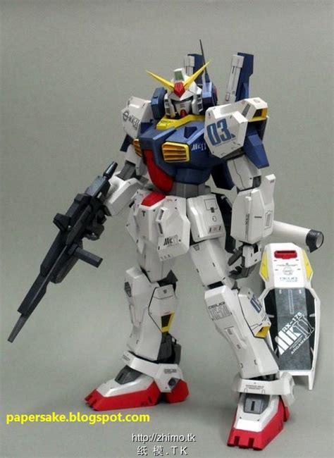 Paper Craft Gundam - paper crafts gundam rx 178 mk ii paper craft gadgetsin