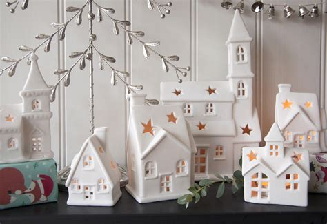 White Kitchen Furniture Sets christmas cottage tealight holder dotcomgiftshop