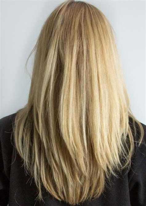 images of blonde layered haircuts from the back layered long straight blonde hairstyle for women