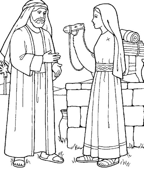 Jesus And The Samaritan Woman Coloring Pages The At The Well Coloring Pages