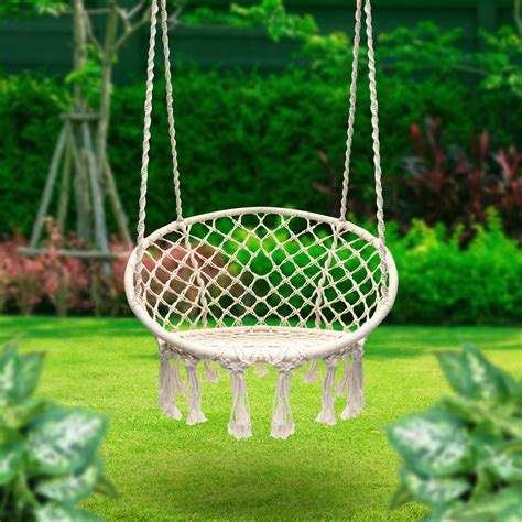 macrame swing sorbus hammock chair macrame swing 265 pound capacity