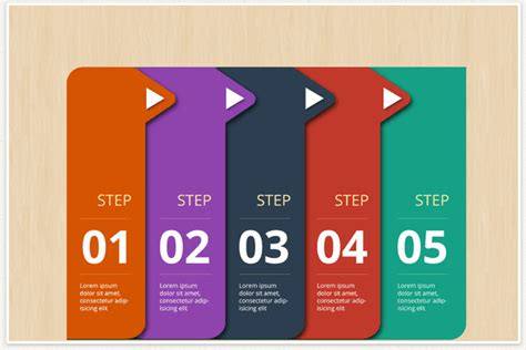 stepping design templates infographic steps elements templates illustration
