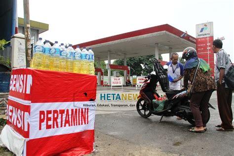 Minyak Pertalite depot pertalite tidak ada pertamina hentikan pasokan