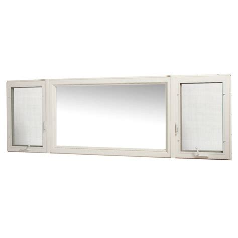 home depot awning windows tafco windows 107 in x 36 in vinyl casement window with screen white vcc10736rl