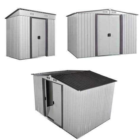 size shed storage kit metal garden building doors steel