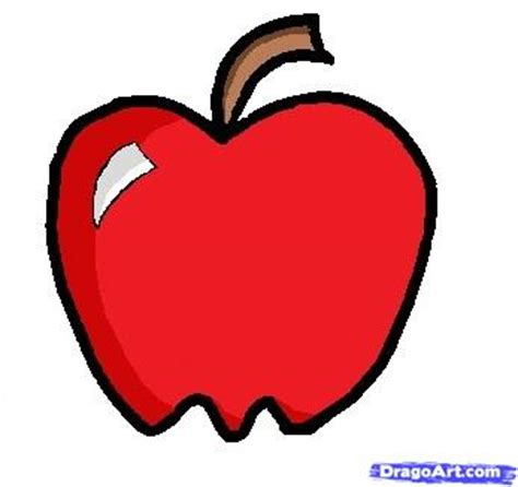 apple drawing how to draw a apple step by step food pop culture free