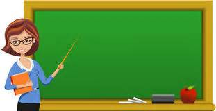 beautiful teacher at blackboard holding pointer royalty