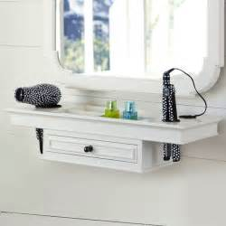 Classic getting ready shelf bathroom cabinets and