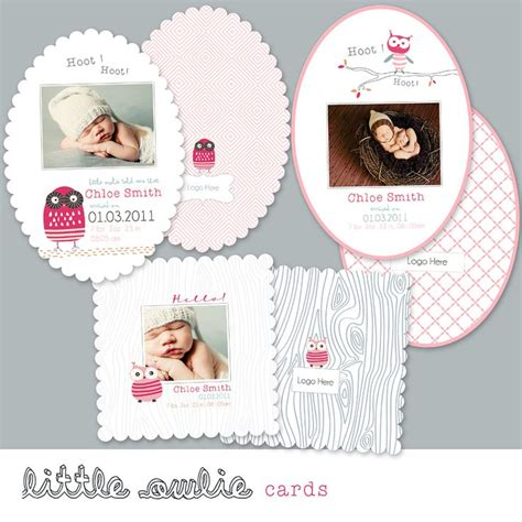 whcc boutique card templates 17 best stationery birth announcements images on