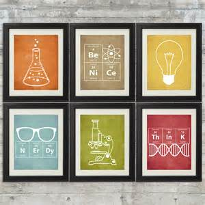 science themed decorations nerdy science set of 6 8x10 instant