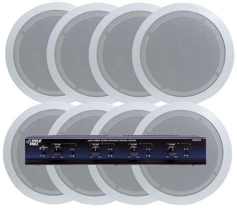 new pyle 4 room in ceiling speaker system 8 x 5 25