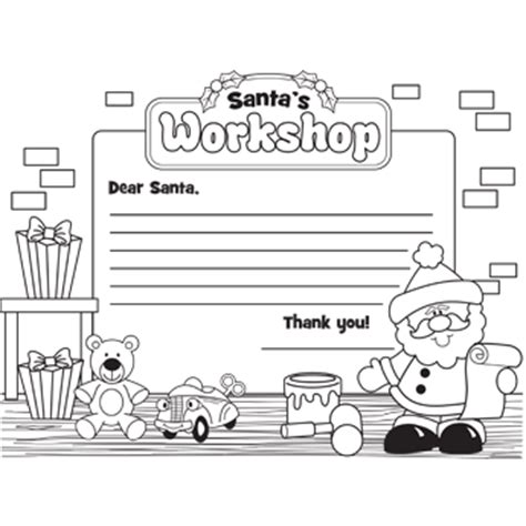 letter to santa template printable black and white 6 best images of coloring printable santa letter template
