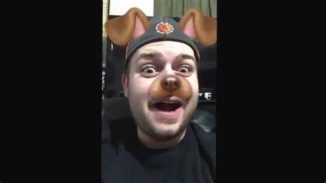 snapchat filter puppy tongue lick youtube