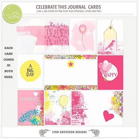 Celebrate Gift Card - celebrate this journal cards by the lilypad designer lynn grieveson