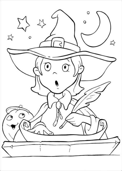 girl writing coloring page girl writing halloween coloring pages pinterest