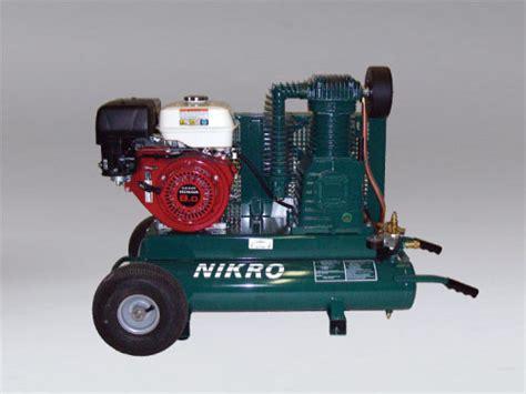 860544 9 h p honda 2 stage 175 psi portable gasoline compressor