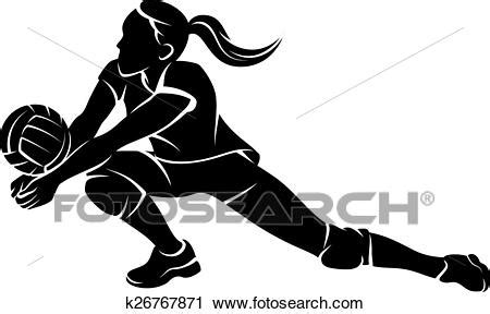 clipart pallavolo clipart pallavolo scavare ragazza silhouette