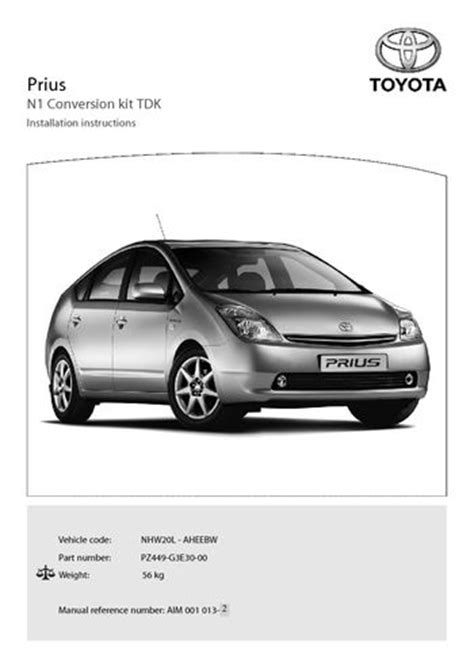 2005 toyota prius owners manual pdf 2005 toyota prius conversion kit n1 tdk pdf manual 10