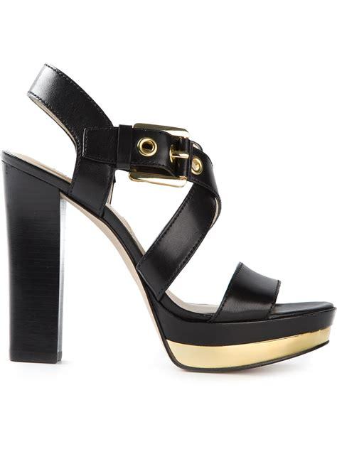 michael michael kors platform sandals  black lyst