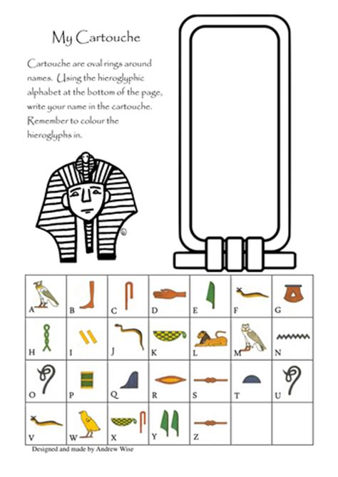 printable egyptian bookmarks my cartouche egyptian writing by baamoooinkwoof