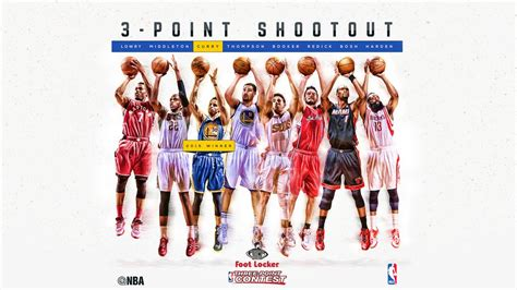 three point stephen curry to defend his three point shootout title