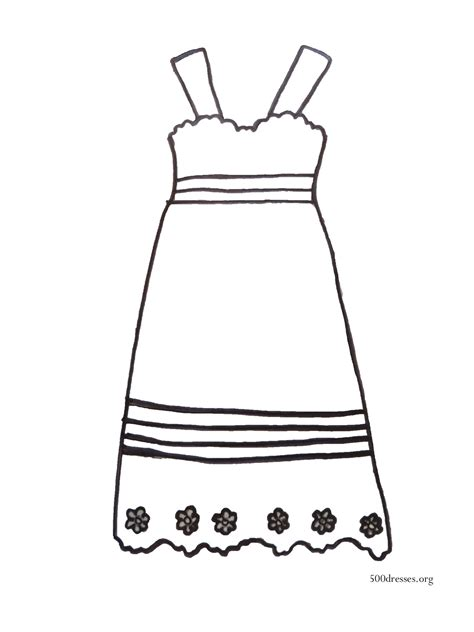 coloring page of a dress dress coloring page 500 dresses