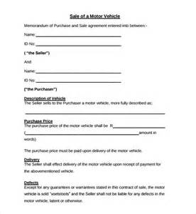 Purchase Agreement Template Car Sample Auto Purchase Agreement 6 Free Documents In Pdf