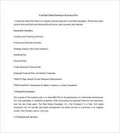 Real Estate Business Plan Template Pdf by Real Estate Business Plan Template 10 Free Word Excel