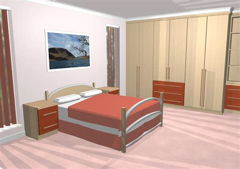 bedroom gallery 3d cad gallery image of bedroom with long handles and