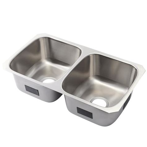 Stainless Steel Undermount Kitchen Sink Kohler Ballad Undermount Stainless Steel 32 In 50 50 Basin Kitchen Sink K Rh20062 Na