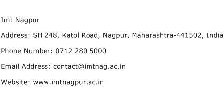 Search Contact Number By Address Imt Nagpur Address Contact Number Of Imt Nagpur