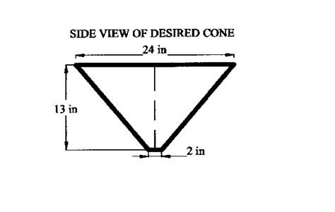 flat pattern cone shape new cone calculator for sheet metal