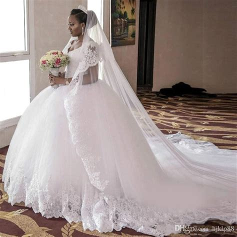 Plus Size Lace Wedding Dresses With Cathedral by Arabic South Vintage Cap Sleeves Wedding Dresses
