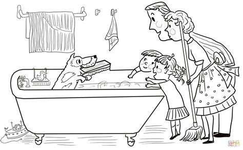 coloring page of harry the dirty dog m clean and dirty coloring page coloring pages