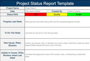 quality improvement report template project status report template expert program management