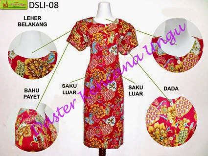 Dress Batik Big Kencana daster kencana ungu