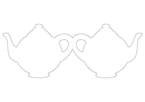 teapot template invitations images