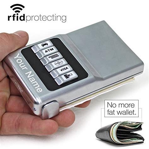 acm wallet credit card holder front pocket organizer easy push button  buy   uae