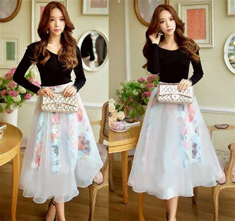 Setelan Cewe Keren setelan baju rok wanita dewasa cantik modis murah