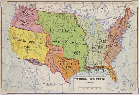 map of the united states in 1776 territorial acquisitions 1776 1866 maps of america
