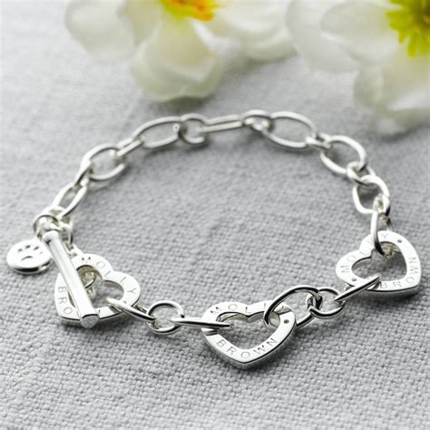 childs adjustable silver charm bracelet by molly brown