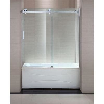 home depot tub shower doors schon judy 60 in x 59 in semi framed sliding trackless