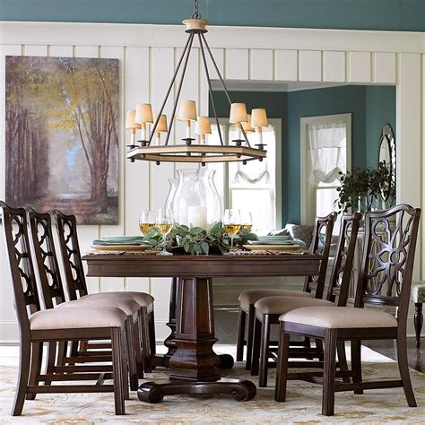 bassett furniture dining room sets bassett moultrie park 7 piece double pedestal table and