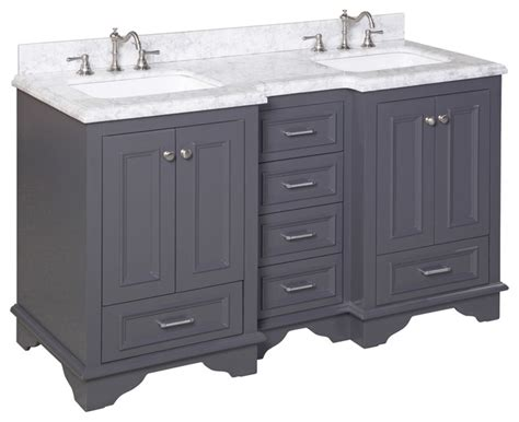charcoal grey bathroom vanity nantucket 60 quot bath vanity carrara charcoal gray