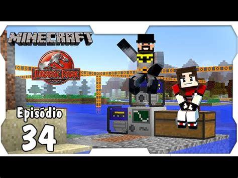 Kaos Jurassic Park 34 minecraft jurassic park 34 fazendo a danada da quarry minerar nunca mais dino cube